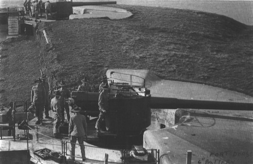 Six-inch guns at Fort Dorset, Wellington (New Zealand's capital)