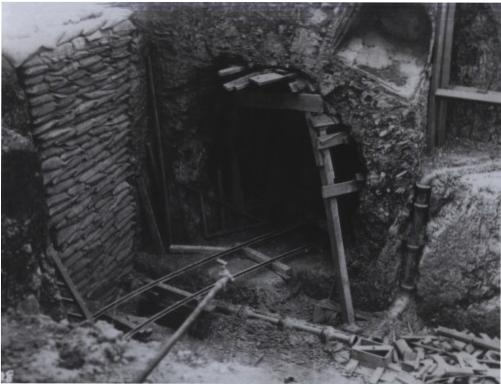 A tunnel entrance under construction