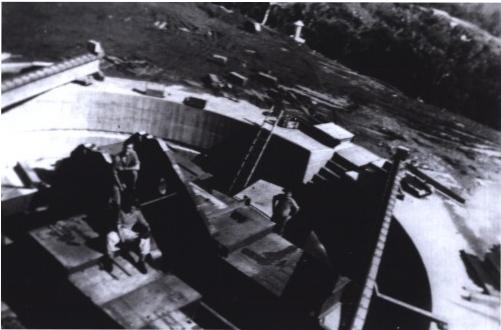 A gun-pit under construction