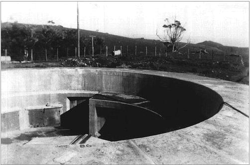 A gun pit as it is now